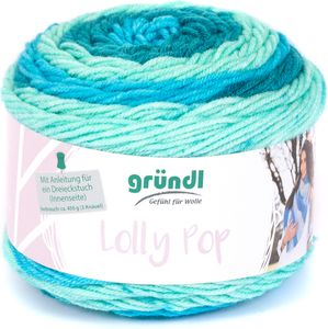 "GRÜNDL Wolle ""Lollypop"" 150 g hellblau/türkis"