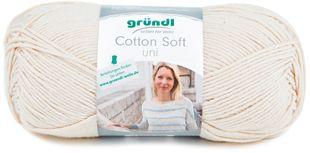 """GRÜNDL Wolle """"Cotton Soft"""" 100 g creme"""