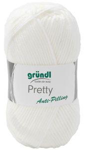 "GRÜNDL Wolle ""Pretty"" 100g weiß"