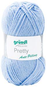 """GRÜNDL Wolle """"Pretty"""" 100g hellblau"""
