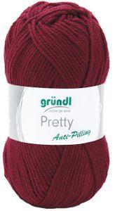 "GRÜNDL Wolle ""Pretty"" 100g bordeaux"