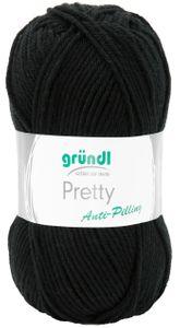 """GRÜNDL Wolle """"Pretty"""" 100g schwarz"""