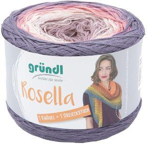 "GRÜNDL Wolle ""Rosella"" 200g mauve/weiß/rosa/lila"