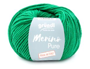 "GRÜNDL Wolle ""Merino Pure"" 50g dunkelgrün"