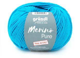 """GRÜNDL Wolle """"Merino Pure"""" 50g türkis"""