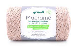 GRÜNDL Macramé-Garn 3 mm x 95 m beige