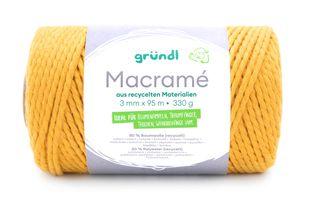 GRÜNDL Macramé-Garn 3 mm x 95 m gelb