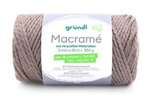 GRÜNDL Macramé-Garn 3 mm x 95 m dunkelbeige