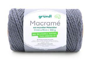 GRÜNDL Macramé-Garn 3 mm x 95 m grau