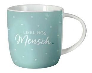 """Tasse """"Lieblingsmensch"""" 300 ml hellblau"""