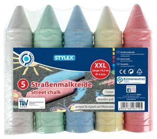 XXL-Straßenmalkreiden 5 Stück mehrere Farben