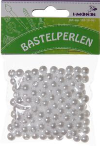I-MONDI Bastelperlen Ø 0,8 cm creme