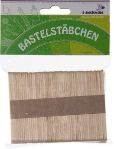 I-MONDI Holzbastelstäbchen 70 x 7 mm 150 Stück natur