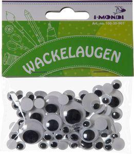 I-MONDI Wackelaugen rund 75 Stück verschiedene Größen selbstklebend