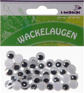 I-MONDI Wackelaugen rund 40 Stück 10 mm selbstklebend