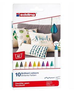 """EDDING Textilstifte-Set """"Fun"""" 10 Stück mehrere Farben"""
