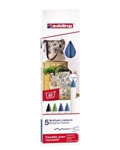 "EDDING Textilstifte-Set ""Cool"" 5 Stück mehrere Farben"
