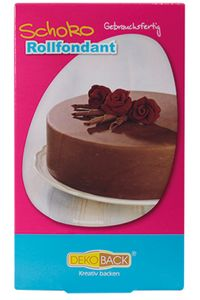 """DEKOBACK Rollfondant mit Geschmack """"Schokolade"""" 250 g braun"""