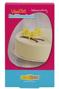 """DEKOBACK Rollfondant mit Geschmack """"Vanille"""" 250 g weiß"""