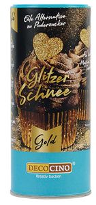 DEKOBACK Glitzerschnee 100 g gold