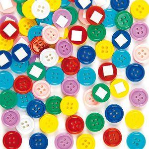 BAKER ROSS Knöpfe-Set selbstklebend 200 Stück mehrere Farben