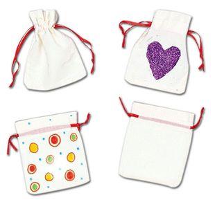 BAKER ROSS Mini-Baumwollsäckchen zum Bemalen 6 Stück