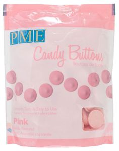 PME Candy Buttons 340 g rosa
