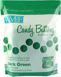 PME Candy Buttons 340 g dunkelgrün