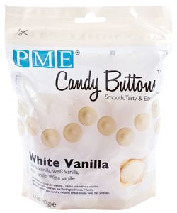 PME Candy Buttons 340 g strahlend weiß