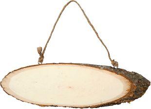 Türschild oval 10 x 28 cm aus Holz