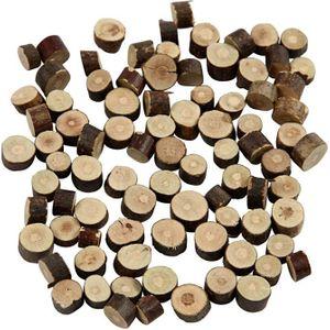 Holzscheiben Ø 7-10 mm 230 g braun