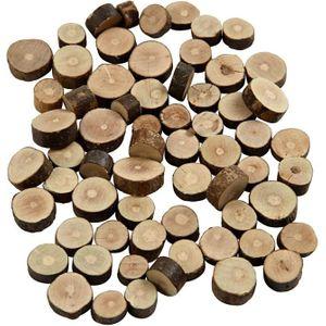 Holzscheiben Ø 10-15 mm 230 g braun