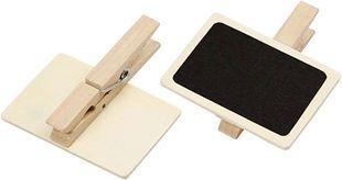 Holztafeln mit Klammer 6er braun