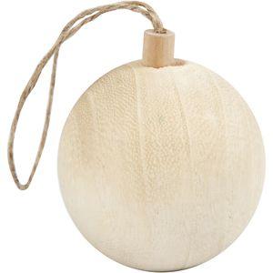 Weihnachtskugel aus Holz Ø 4,8 cm braun