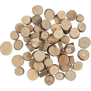 Deko-Holzscheiben 25 g braun
