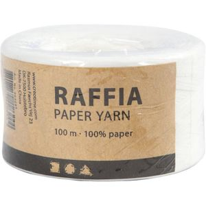 Papierbast Raffia 7-8 mm x 100 m weiss