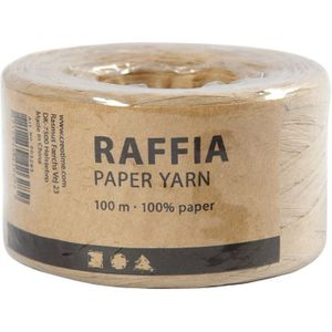 Papierbast Raffia 7-8 mm x 100 m beige