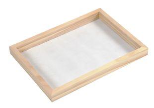 Papierschöpf-Rahmen aus Kiefernholz 23 x 17 x 2 cm natur