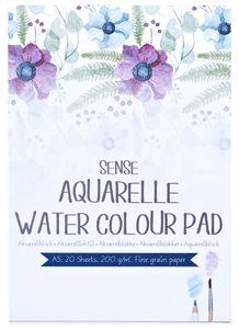 SENSE Aquarellblock A5 20 Blatt 200 g weiß