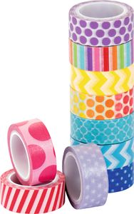 Washi-Tape-Set 10 Rollen bunt