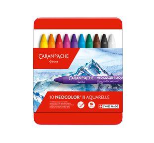 "CARAN D'ACHE Wachsmalkreiden ""Neocolor II"" wasserlöslich 10 Farben"