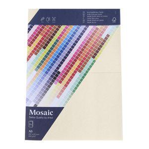 MOSAIC Doppelkarten A5 5 Stück ivory