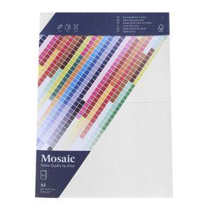 MOSAIC Doppelkarten A5 5 Stück weiß