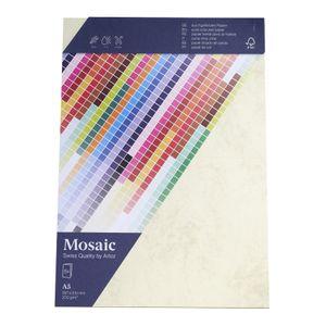 MOSAIC Doppelkarten A5 5 Stück marmoriert gelb