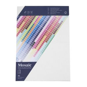 MOSAIC Doppelkarten A6 5 Stück weiß