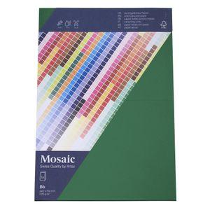 MOSAIC Doppelkarten B6 5 Stück tannengrün