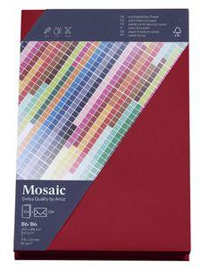 MOSAIC Creative B6 Kuverts und Karten je 10 Stück weinrot