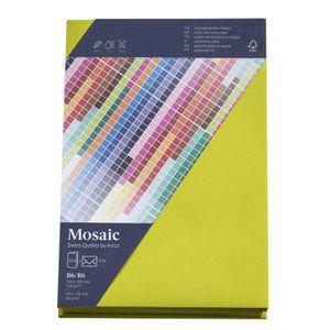 MOSAIC Creative B6 Kuverts und Karten je 10 Stück neon lime