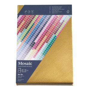 MOSAIC Creative B6 Kuverts und Karten je 10 Stück gold
