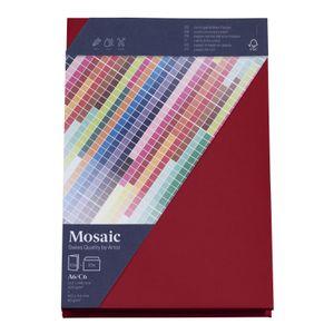 MOSAIC Creative C6 Kuverts und A6 Karten je 10 Stück weinrot